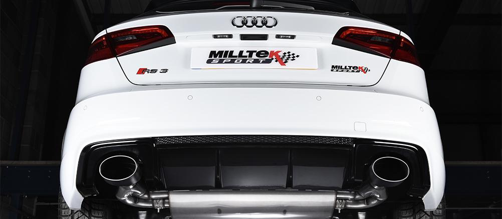 Milltek sportsudstødning til Audi RS3 Sportback 400 HK