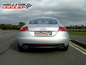 Quad-outlet exhaust system for Audi TT 2.0T FSi