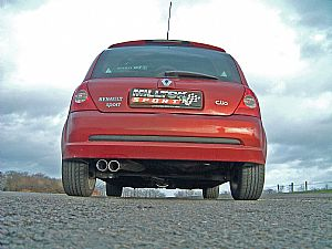 Renault Clio 172 exhaust from Milltek Sport