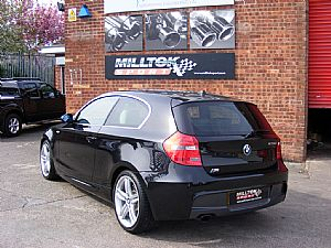 BMW 123d E81 enters the Milltek Workshop