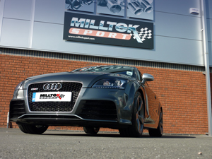 Audi TT RS arrives at Milltek Technology Centre