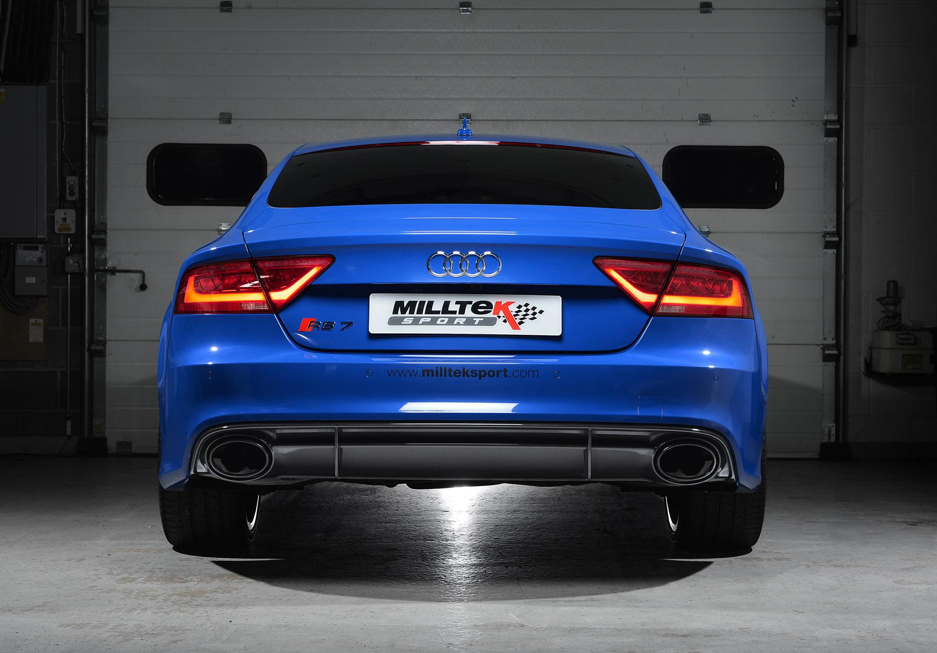 Milltek udstødning til Audi RS7 Sportback 4.0 V8 TFSI biturbo
